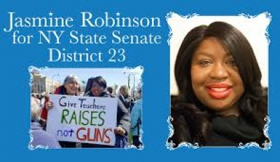 Jasmine Robinson discusses her primary challenge against Diane Savino